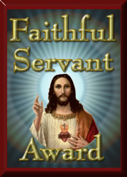 "Faithful Servant Award from Angel Express, Premiere Provider of Religious Greeting Cards, Home of ""A Scripture Talking Card."""